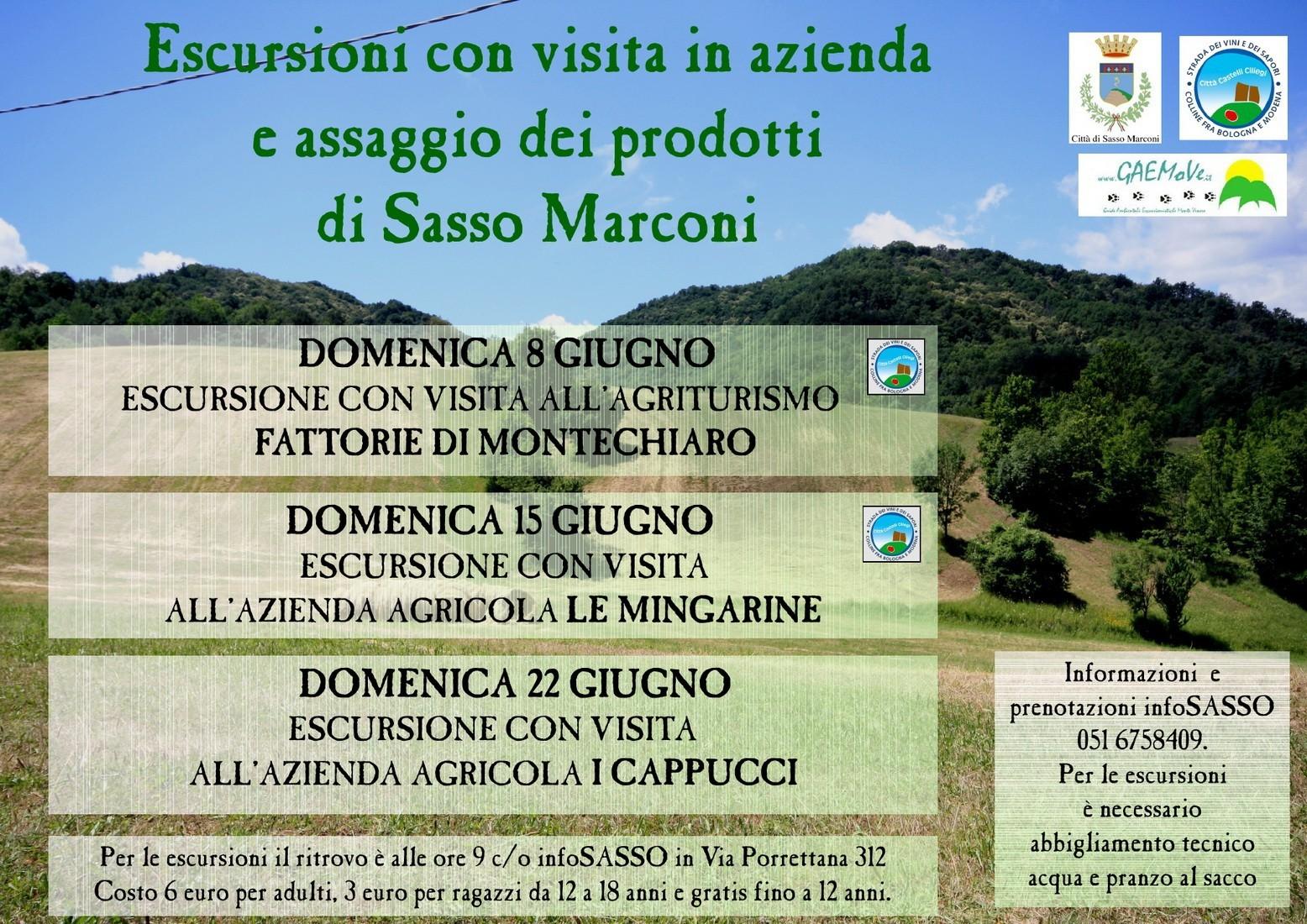 Tre escursioni sulle colline di Sasso Marconi, tra natura e sapori