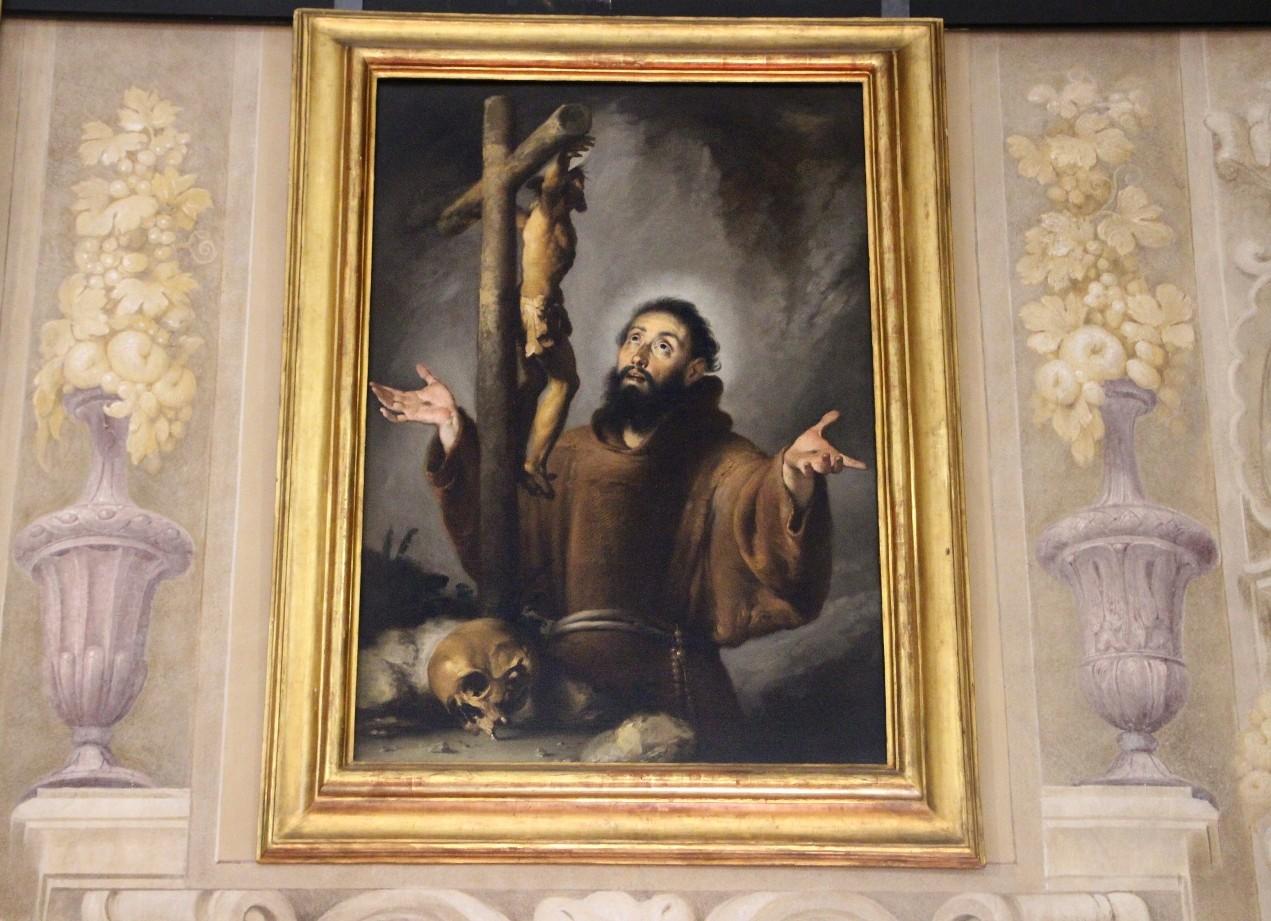 San Francesco in adorazione del crocifisso