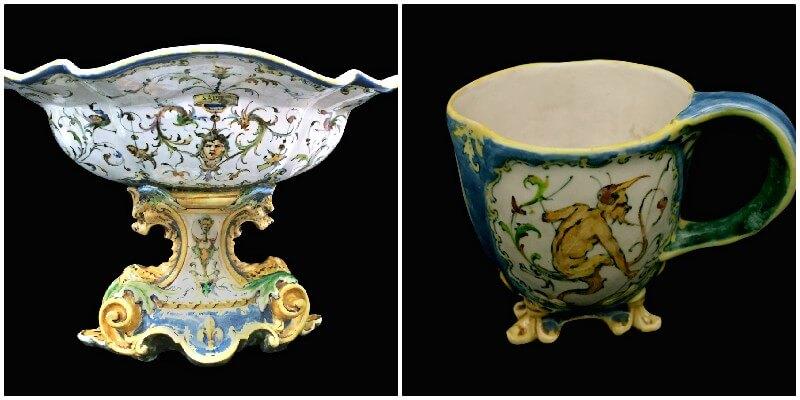 Le maioliche Minghetti del duca di Montpensier per palazzo Caprara. Il ritorno di un trionfale servizio da tavola