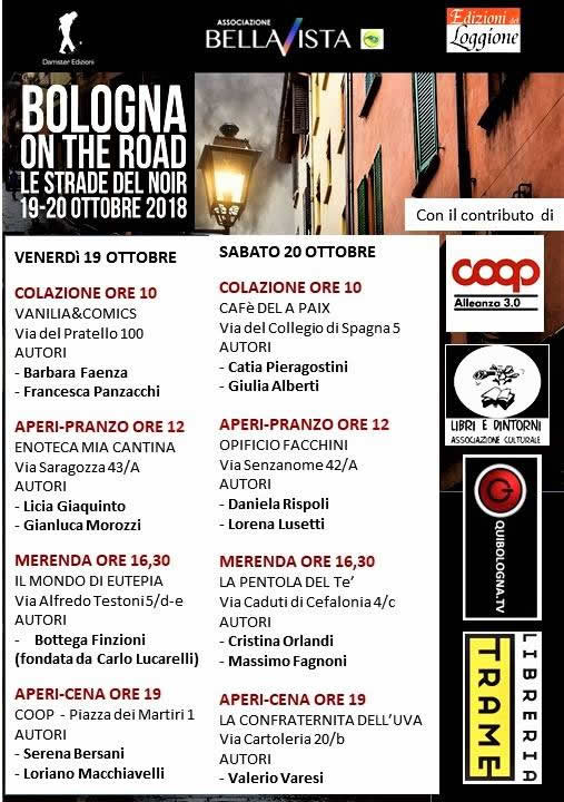 Bologna on the Road - Le strade del noir 2018: 19 e 20 ottobre