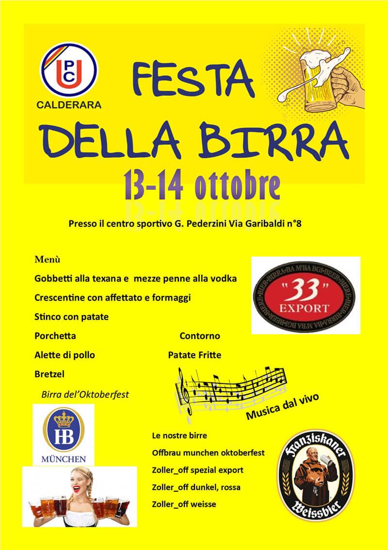 Festa della Birra a Calderara di Reno il 13 e 14 ottobre