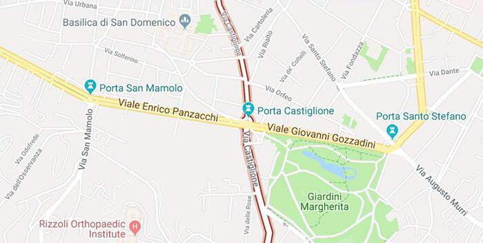 mappa via castiglione